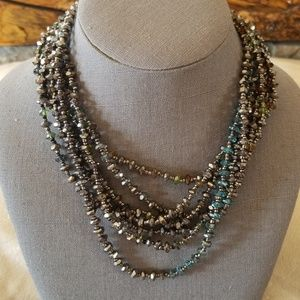 Drapped Crystal Necklace